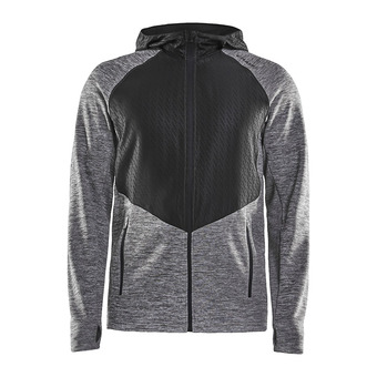 Craft CHARGE FUSEKNIT - Sweat Homme anthracite/black