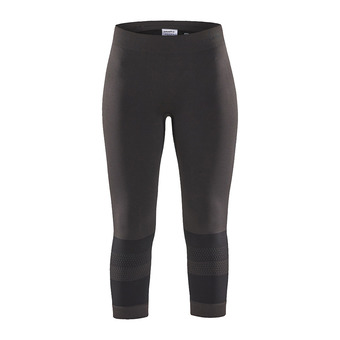 Craft WARM INTENSITY - 3/4 Tights - Women's - black/titanium