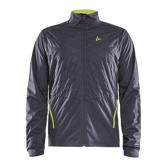 Craft STORM BALANCE - Hybrid Jacket - Men's - asphalt/acid