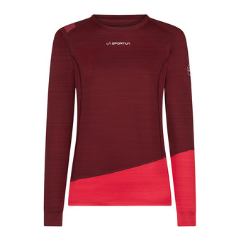 Dash Long Sleeve W Femme Wine/Orchid