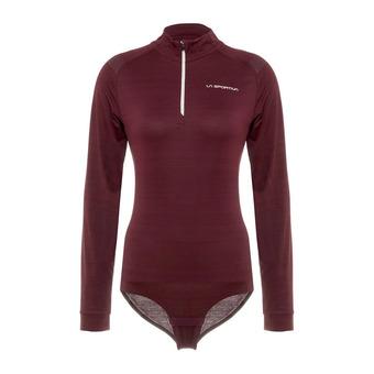 La Sportiva CONTOUR - Body mujer wine