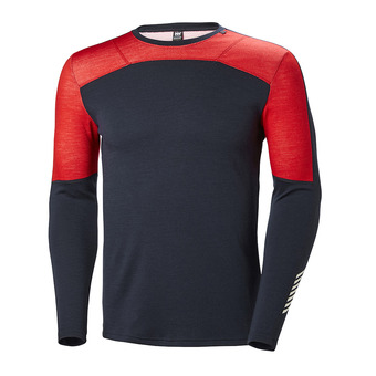 Helly Hansen HH LIFA MERINO CREW - Camiseta térmica hombre navy