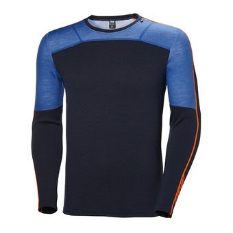 Helly Hansen HH LIFA MERINO CREW - Camiseta térmica hombre electric blue