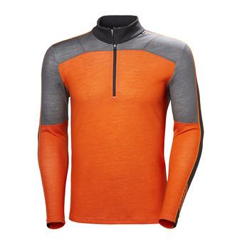 Helly Hansen HH LIFA MERINO 1/2 ZIP - Sous-couche Homme bright orange