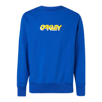 Oakley TRIDIMENSIONAL CREWNECK - Sweat Homme electric shade