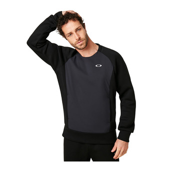 Oakley ENHANCE QD FLEECE CREW 9.7 - Sweat Homme blackout