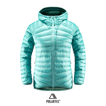 Haglofs ESSENS DOWN - Anorak mujer glacier green/willow green