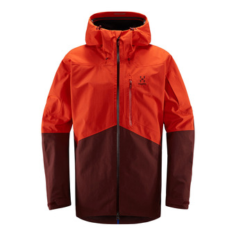 Haglofs NENGAL - Veste ski Homme habanero/maroon red