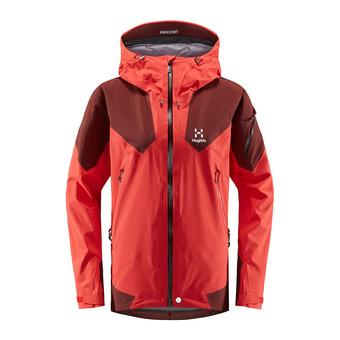 Haglofs ROC SPIRE - Jacket - Women's - hibiscus red/maroon red