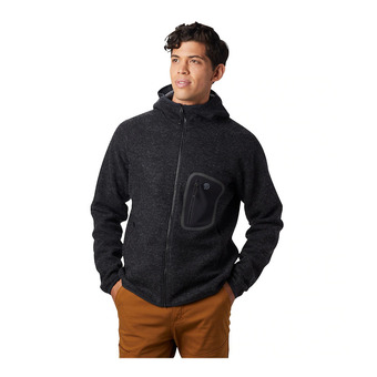 Mountain Hardwear HATCHER ZIP HOODY - Felpa Uomo black