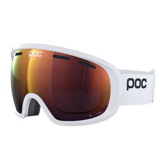 Poc FOVEA CLARITY - Masque ski hydrogen white/spektris orange