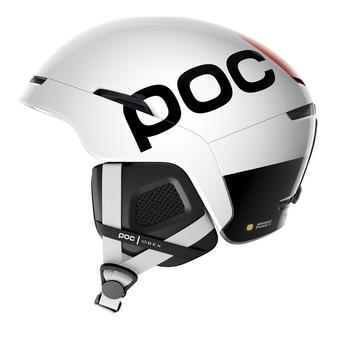 Poc OBEX BC SPIN - Casque ski hydrogen white/fluorescent orange avip