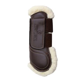 Guêtre cuir velcro Mouton marron Unisexe Marron