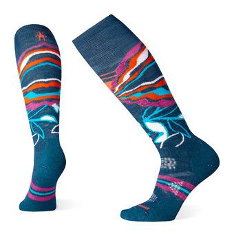 Smartwool PHD MEDIUM - Calcetines de esquí mujer pattern deep marlin