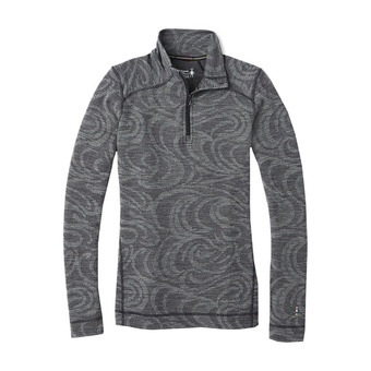 Smartwool MERINO 250 ZIP - Camiseta térmica mujer pattern black snow swirl
