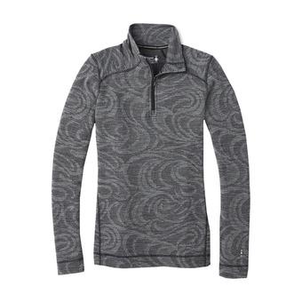 Smartwool MERINO 250 ZIP - Sous-couche Femme pattern black snow swirl