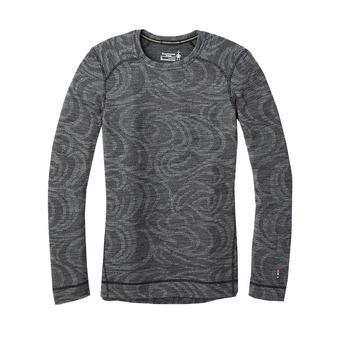 Smartwool MERINO 250 - Camiseta térmica mujer pattern black snow swirl