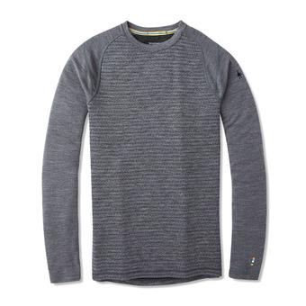 Smartwool MERINO 250 - Camiseta térmica hombre pattern medium gray tick stitch