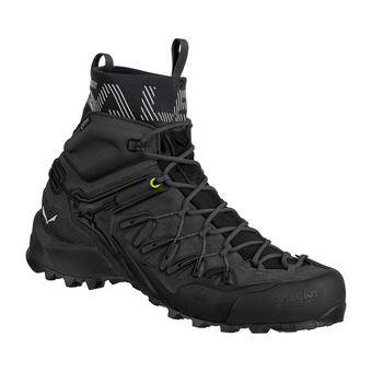 Salewa WILDFIRE EDGE MID GORE-TEX - Approach Shoes - Men's - black/black