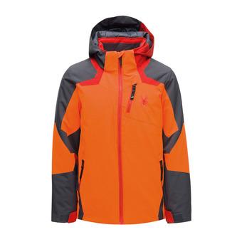 Spyder LEADER - Veste ski Garçon bryte orange