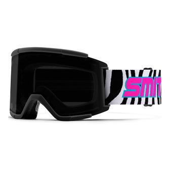Smith SQUAD XL - Maschera da sci cp sun black /6w - cp storm yellow flash