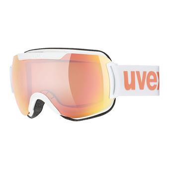 Uvex DOWNHILL 2000 CV - Masque ski white mat/mirror pink hco