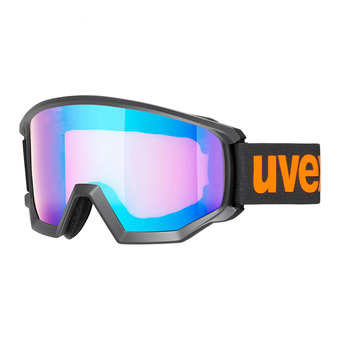 Uvex ATHLETIC CV - Masque ski black mat/mirror blue hco