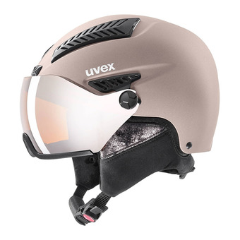 Uvex HLMT 600 VISOR - Casque ski Femme rose mat/mirror silver lasergold lite