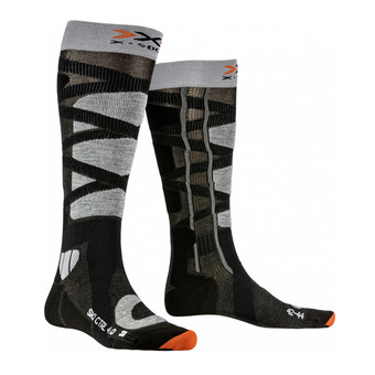 X-Socks CONTROL 4.0 - Chaussettes ski anthracite/gris