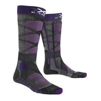 X-Socks CONTROL 4.0 - Calze da sci Donna nero/viola