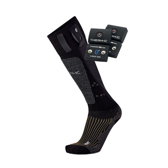 Therm-Ic POWERSOCKS HEAT UNI - Heated Socks - black + Batteries S-1400B
