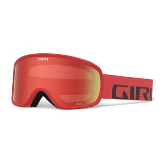 Giro CRUZ - Gafas de esquí red wordmark amber scarlet