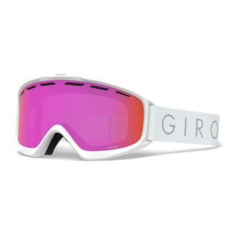 Giro INDEX - Masque ski Femme white core light amber pink