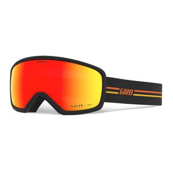 Giro RINGO - Maschera da sci gp black/orange vivid ember
