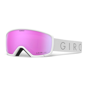 Giro RINGO - Masque ski Femme white core light vivid pink