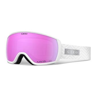 Giro FACET - Maschera da sci Donna white zag vivid pink