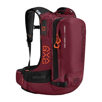 Ortovox FREE RIDER S AVABAG 20L - Zaino airbag dark blood