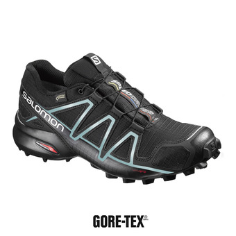 Salomon SPEEDCROSS 4 GTX - Chaussures trail Femme black/metallic bubble blue