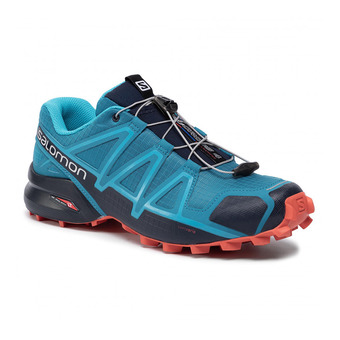 Salomon SPEEDCROSS 4 - Trail Shoes - Men's - fjord blue/navy blaz