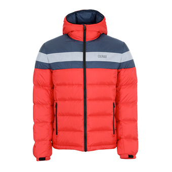 Colmar HOODED PUFFY DOWN - Anorak hombre bright red/blue black