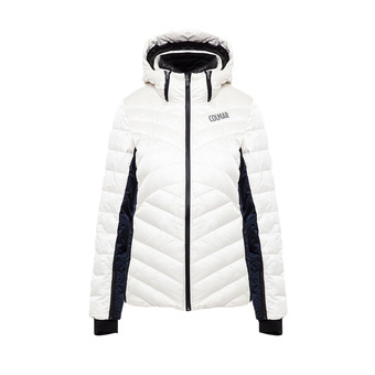 L.DOWN JACKET Femme WHITE-BLUE BLACK2849-8TZ-01