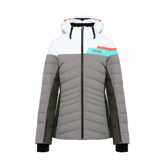 L.DOWN SKI JACKET Femme GREYSTONE-JUNGLE-WHI2856-1UA-439