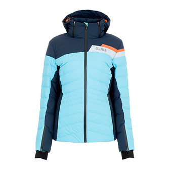 L.DOWN SKI JACKET Femme WATERBLUE-BLUE BLACK2856-1UA-62