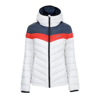 Colmar HOODED PUFFY DOWN - Anorak mujer white/blue black/bri