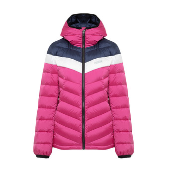 Colmar HOODED PUFFY DOWN - Anorak mujer cyclamen/blue black