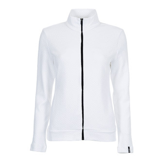Colmar FULL ZIP JACQUARD - Sweat Femme white