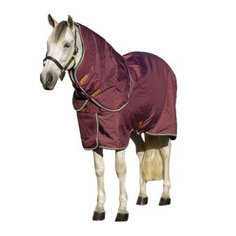 Horseware AMIGO 100 - Manta de cuadra 100g burgundy/orange teal/navy