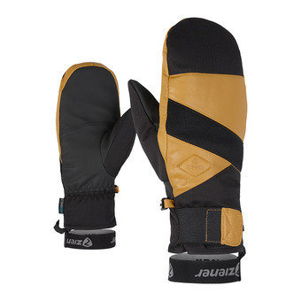 Ziener GIXO AS AW - Moufles ski Homme black hb/tan