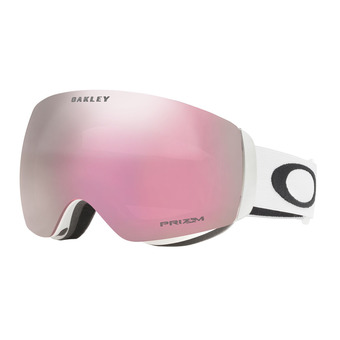 Oakley FLIGHT DECK XM - Masque ski matte white/prizm hi pink iridium
