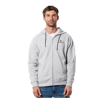 SURF CO. HOODED ZIP THROUGH FL Homme CEMENT MARLE